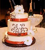 Beautiful Wedding Cake at a Virginia Wedding