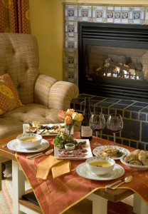 Enjoy the sumptuous repast in the cozy comfort of your room