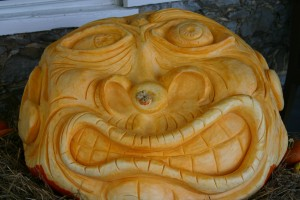 """Fred"" the Frightening Pumpkin Completed"
