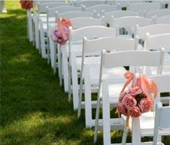 Outdoor wedding ceremony for a Virginia wedding