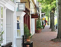 Virginia shopping, Walk way of shops