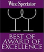 Best of Award Excellent from Wine Spectator