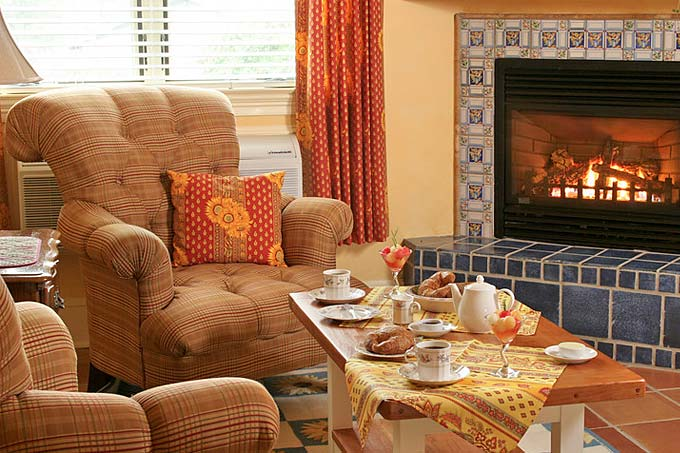 Middleburg Virginia Bed and Breakfast Fireplace & Treats