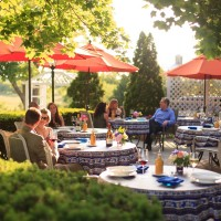 Outdoor dining at L'Auberge Provencale
