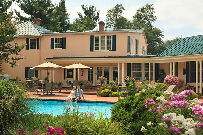 Shenandoah Bed and Breakfast - Pool and Couple