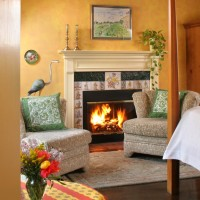 A fireplace in a L'Auberge Provencale room