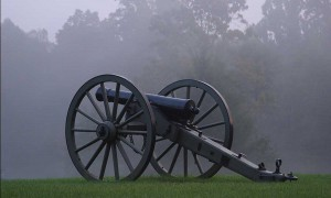 Dawn with a Civil War Cannon
