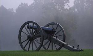 Dawn with a Civil War Cannon