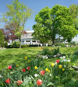 Exterior Gardens in Spring