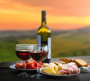 Shenandoah Valley Wine Tasting - Food, Wine, Sunset