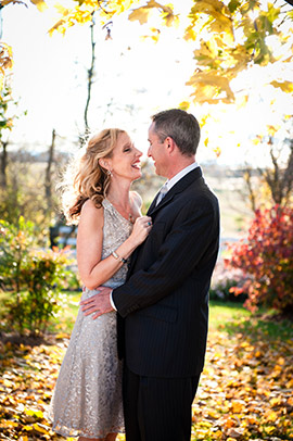 Elopement Couple in the Fall
