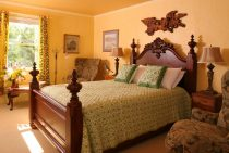 Josephine Room bed at our Northern Virginia bed and breakfast