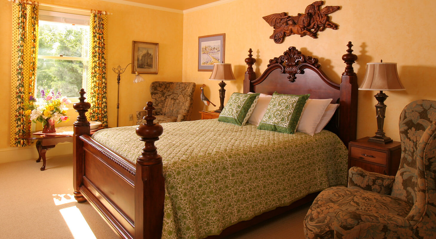 Josephine Room bed at our Shenandoah Valley B&B