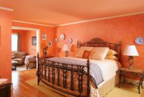 Larousse Suite bed at our Northern Virginia bed and breakfast