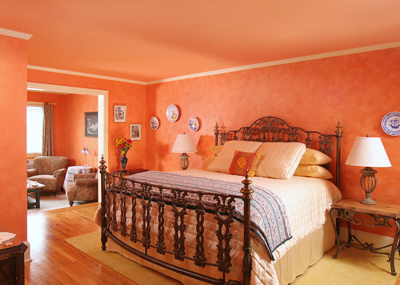 Larousse Suite bed at our Virginia B&B