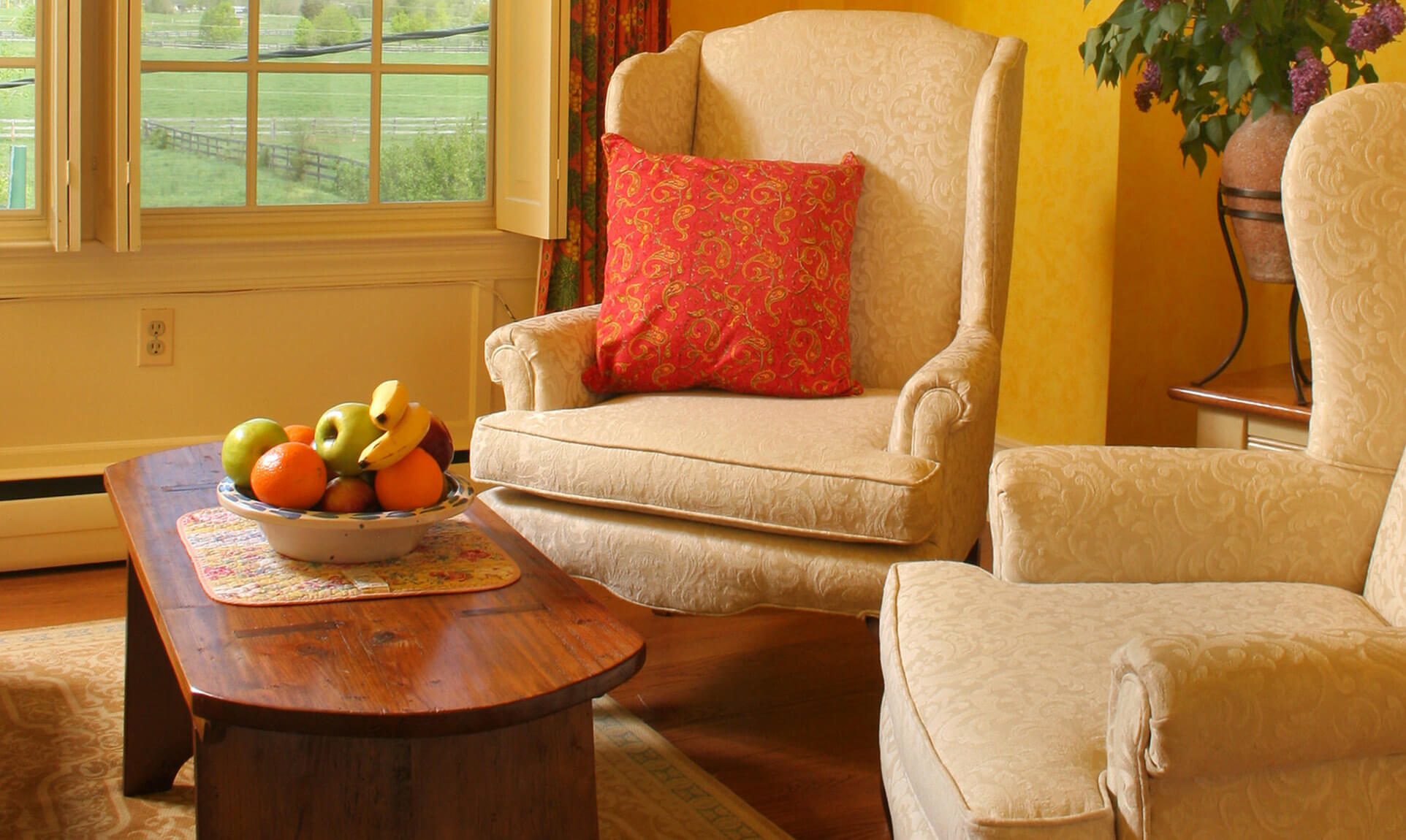 Louis XIV Suite seating area at our Shenandoah Valley B&B