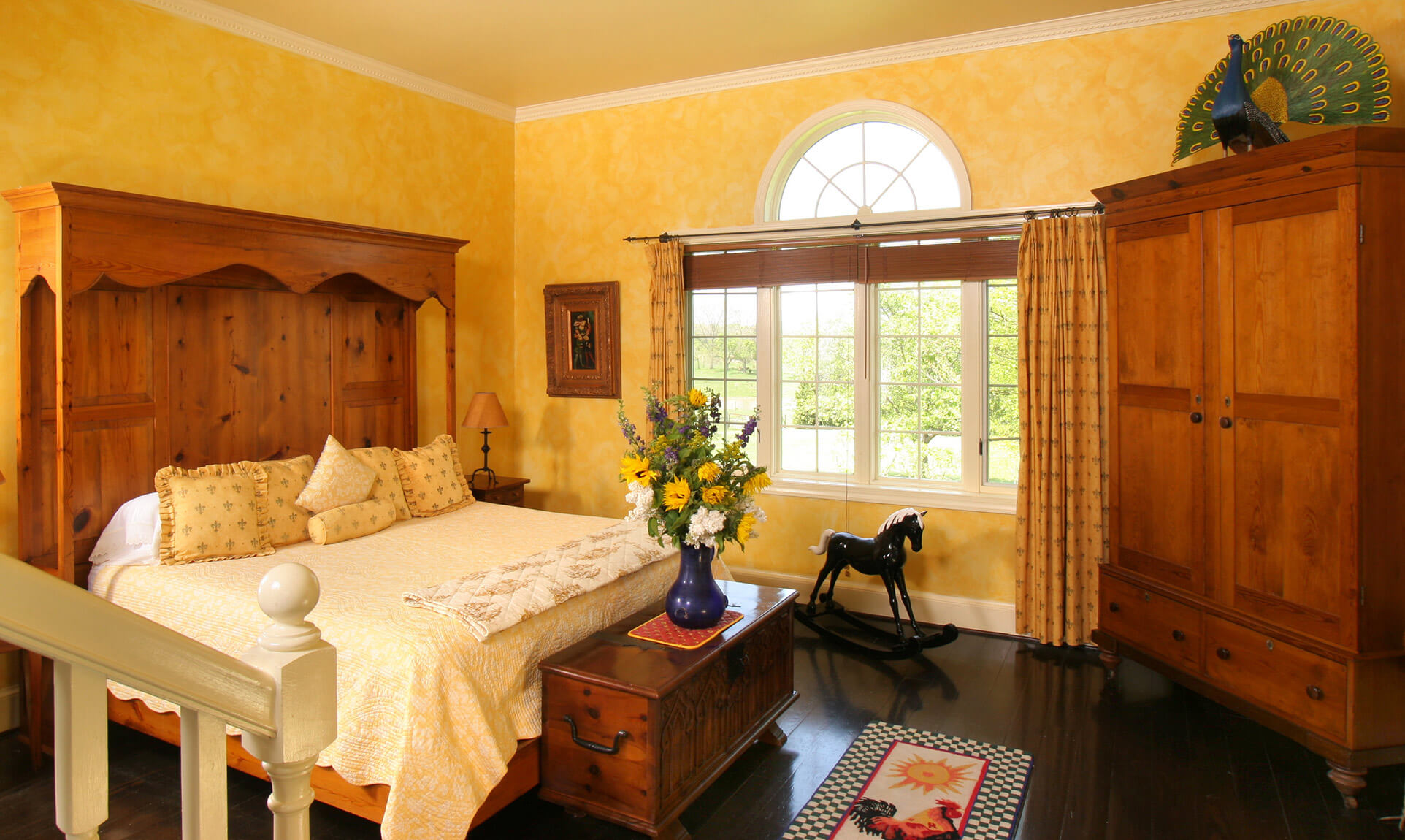 Van Gogh Suite bed at our Shenandoah Valley bed and breakfast