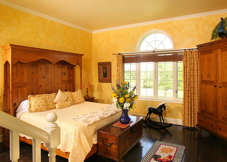 Van Gogh Suite bed at our Shenandoah Valley Inn