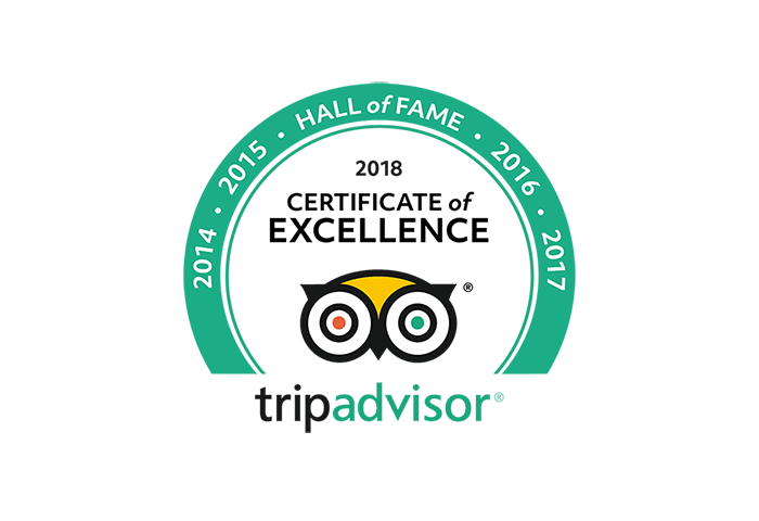 TripAdvisor Certificate of Excellence Hall of Fame