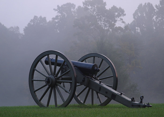 Civil War cannon at a Historical Sites in Virginia