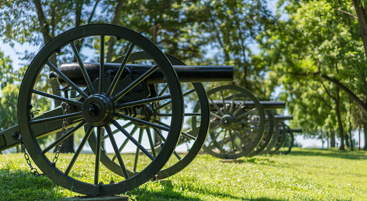 Civil War cannons at a Northern Virginia historical site