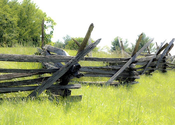 Civil War fence at our Historical site in Northern Virginia