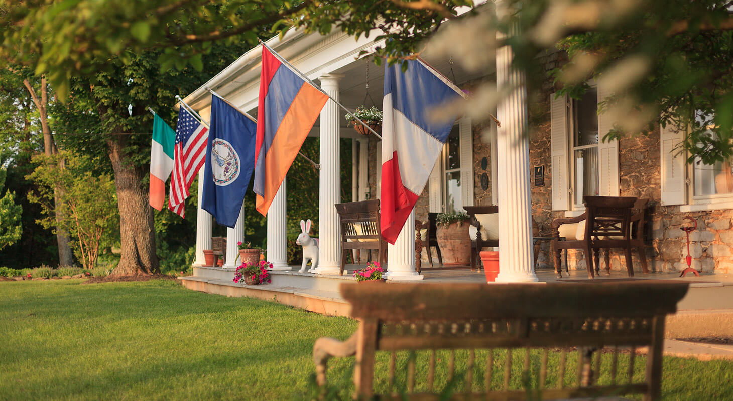 Front porch at our Northern Virginia retreat venue
