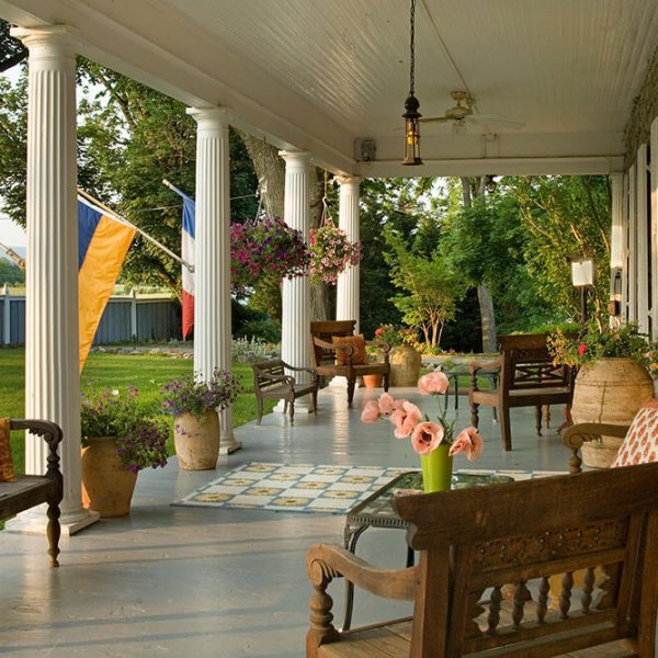 The Front Porch of our Romantic Virginia Bed and Breakfast