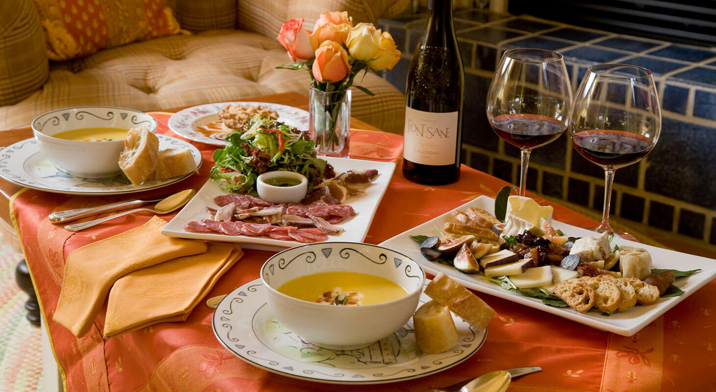 Gourmet repast in your room at our B&B in Northern Virginia