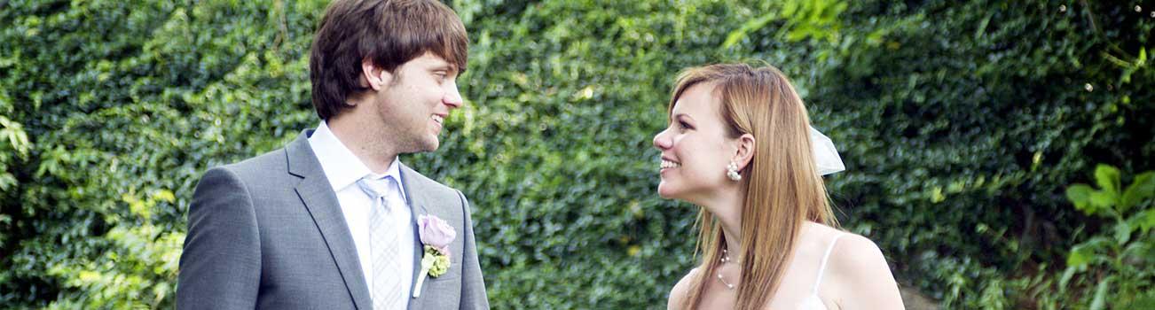 Happy couple eloping in Virginia