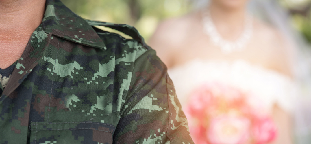 Military elopement at L'Auberge