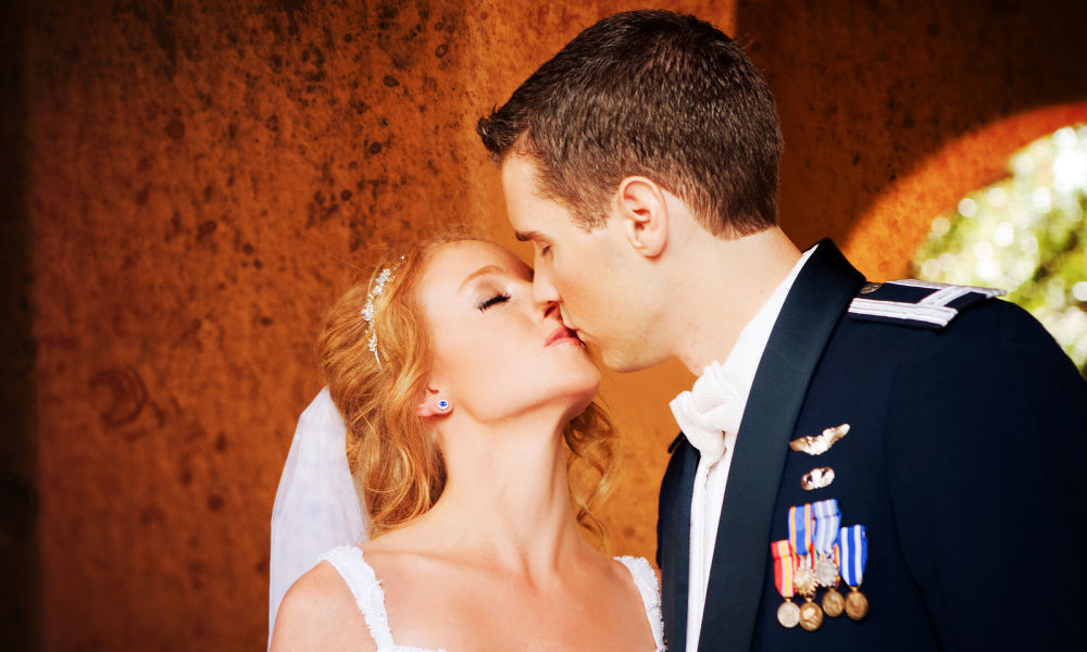 Military wedding at wedding venue in Northern Virginia