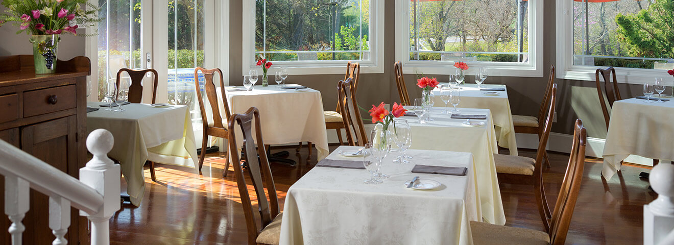 Dining room at L'Auberge Provencale