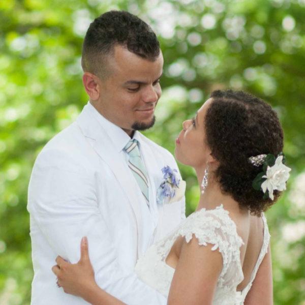 happy couple celebrating their wedding at Virginia wedding venue
