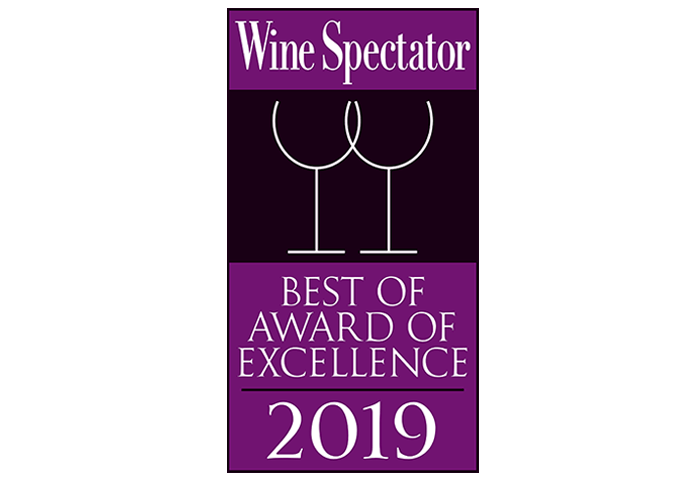 Wine Spectator Best Of Award of Excellence 2019