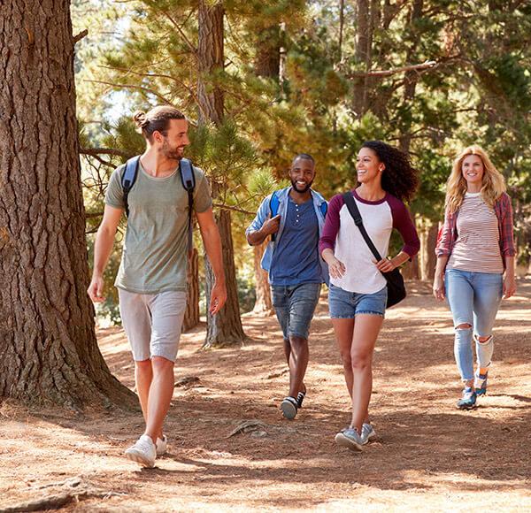 group on a hike