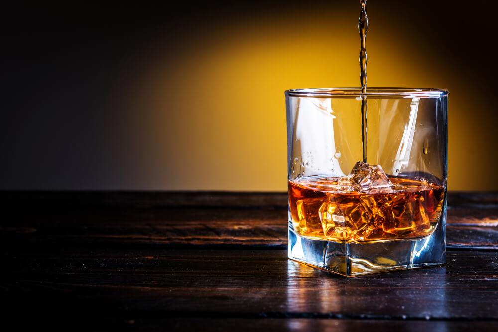 Glass of Blanton's Bourbon at Our Northern VA Bar
