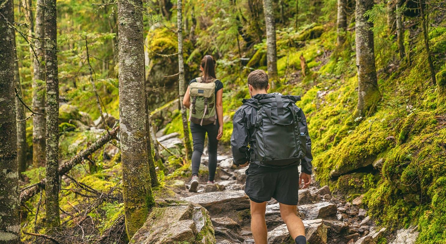 Hiking couple in Virginia