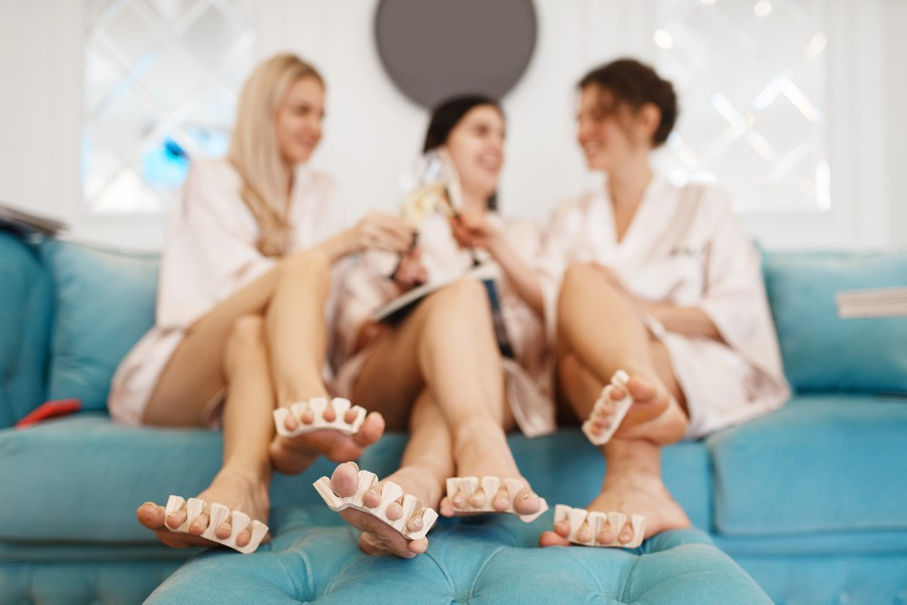 women at the spa
