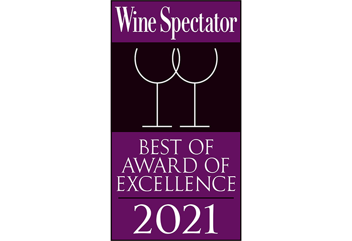 Wine Spectator Best of Award of Excellence 2021