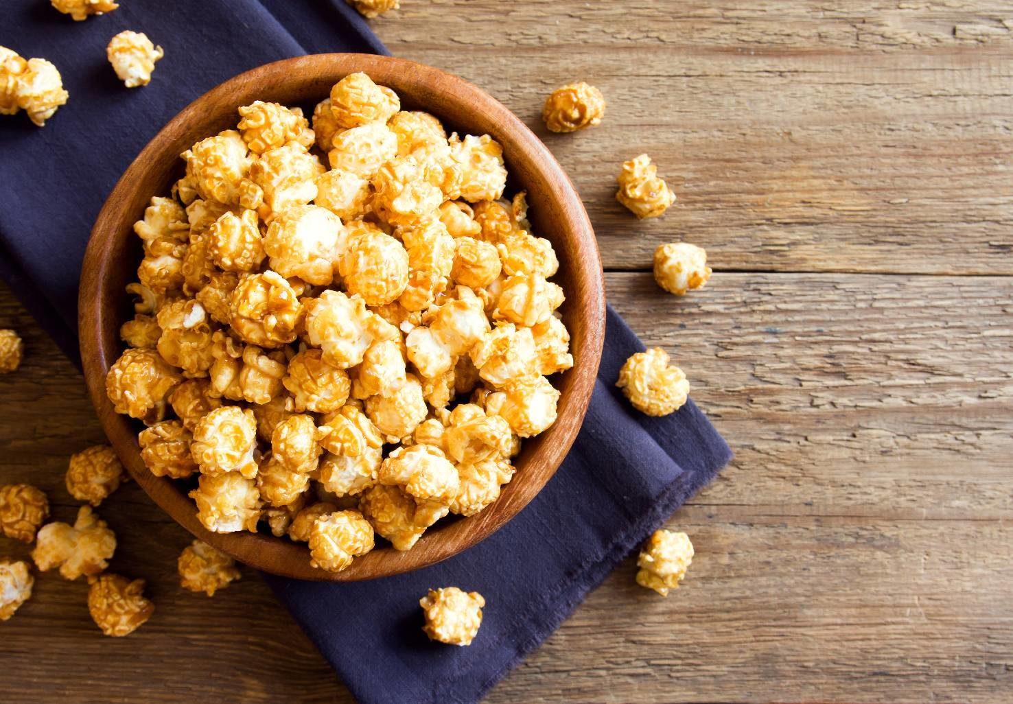 bowl of gourmet popcorn