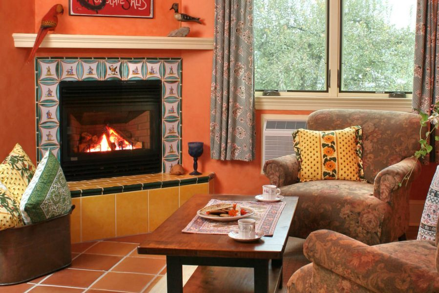 fireplace suite for a Shenandoah valley fall getaway